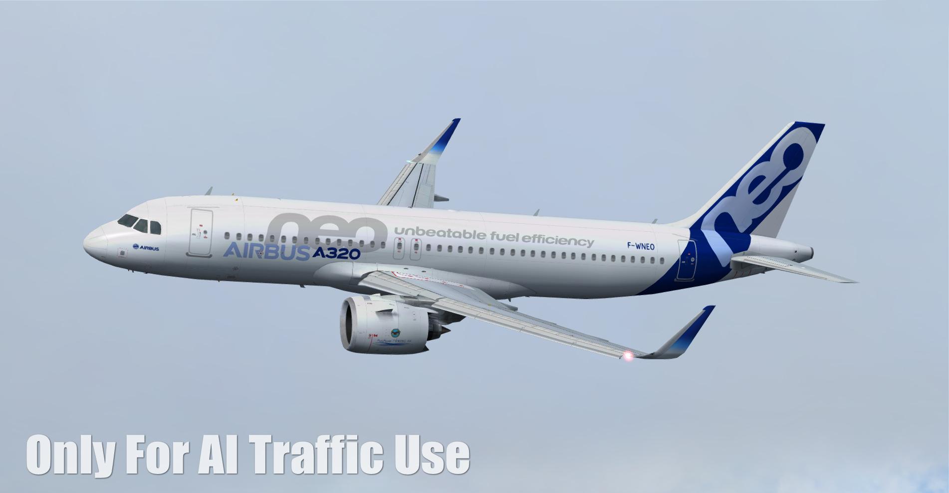 FSPXAI – 空客A320NEO FSX/P3D AI交通机模