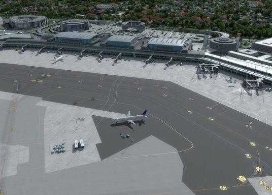 JUSTSIM – 德国-汉堡机场 EDDH V2 – P3D V4.4+