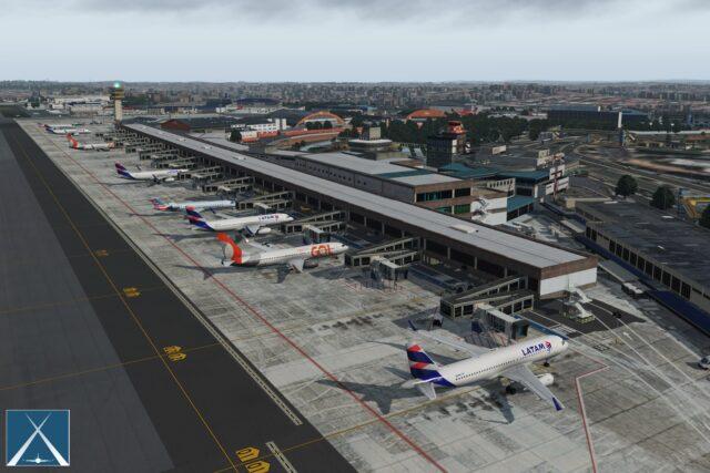 GLOBALL ART – 巴西-圣保罗-孔戈尼亚斯机场 SBSP X-PLANE 11