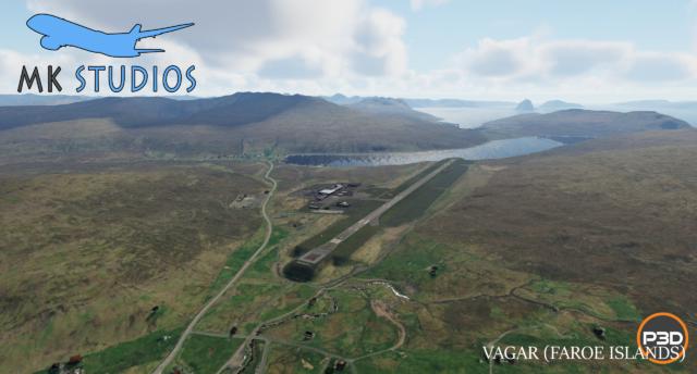 MK-STUDIOS – 丹麦-法罗群岛-瓦加尔机场 EKVG P3D5